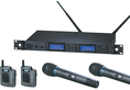 Audio-Technica AEW-5413a Dual System - pairs of body-pack & handheld